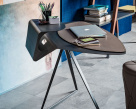 Storm Office Desk - Lacquered Steel