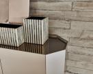Chelsea Titanium Cupboard - Mirrored Top