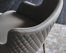 Magda ML Carver Couture Dining Chair - Quilted Back