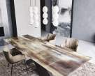 Tyron Crystalart Extending Dining Table by Cattelan Italia