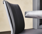 Italia Leather Padded Dining Chair