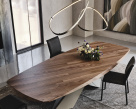 Tryon Boat Shaped Wood Dining Table