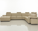 Cosmo Leather Corner Sofa - Front View