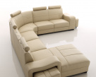Cosmo Leather Corner Sofa  - Side View