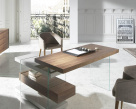 Layer Office Desk - Walnut Wood