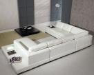 Spectrum Modular Corner Sofa - White Leather