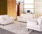 Alonzo Leather Sofa - White Leather