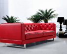 Capriotti Modern Leather Sofa