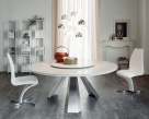 Edward Round Marble Dining Table - White Carrara Marble Top