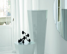 Otto Side Table - White Glass