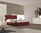 Prestige Italian Bed Red Leather