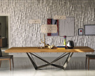 Skorpio Wood Dining Table - Graphite Base