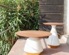 Mira Coffee Table  - Wood Top