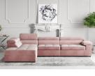 Anna Fabric Corner Sofa - Clearance