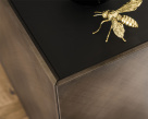Arizona Sideboard - Brushed Bronze Structure & Moka Painted Glass Top