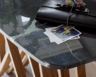 Butterfly Console Table - Glass Top