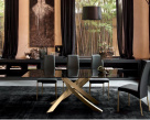Artistico gold base with black glass top