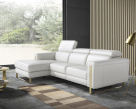 Ashley Corner Sofa - Modern Leather Corner Sofa