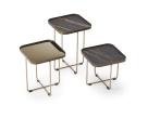 Benny Keramik Coffee Table - Keramik and Brushed Bronze