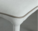 Bontempi Casa Nata Dining Chair with Contrast Piping