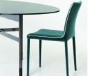 Bontempi Casa Nata Low Back Dining Chair in nabuk Fabric