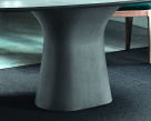 Podium Dining Table Concrete Base