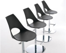 Bontempi Casa Shark Bar Stool - Anthracite