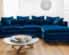 Boss Velvet Fabric Deep Corner Sofa - Comfy
