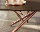 Bridge Barrel Wood Dining Table by Bontempi