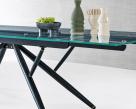 Bridge Glass Extending Dining Table