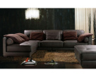 California Modern Leather Corner Sofa