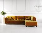 Cappuccino Fabric Corner Sofa