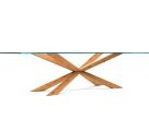 Cattelan Italia Spyder Dining Table Wood Base