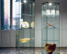 Charme Glazed Cabinet - Glass Doors