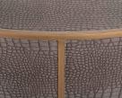 Fabian Vegan Leather Round Coffee Table