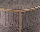 Fabian  Vegan Leather Round Side Table