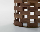 Colosseum Dining Table - Canaletto Walnut Wood Block Base