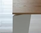 Cruz Table Oak Top, White Leg