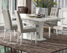 Dexter White High Gloss Dining Table