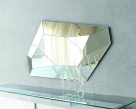 Diamond Shaped Mirror - Faceted Glass