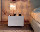 Dyno Leather Nightstand - White