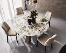Edward Keramik Round Dining Table - Top View