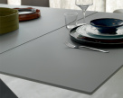 Edward Drive Glass Extending Dining Table  - Side Leaf