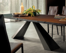 Edward Wood Dining Table - Side