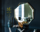 Emerald Hexagonal Mirror