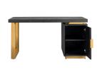 Venus Desk - Desk with Gold Frame
