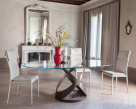 Flame Dining Table Marble Base - Big