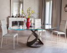 Flame Dining Table Marble Base - Small