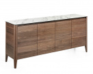 Hedra Sideboard - Walnut Sideboard with Marble Top