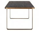 Lennon Brushed Gold Metal Dining Table
